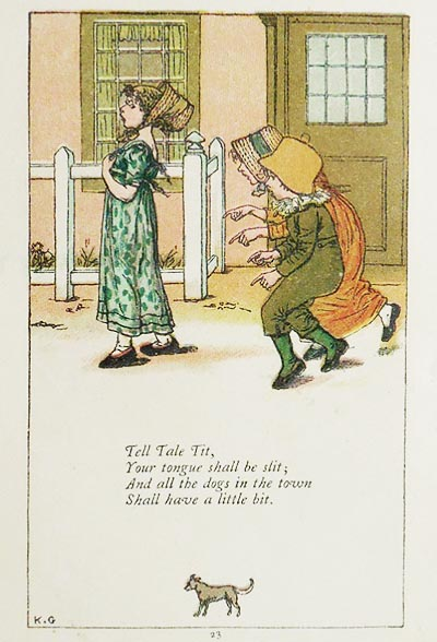 Mother Goose Or The Old Nursery Rhymes Illustrated By Kate Greenaway As Originally Engraved And Printed By Edmund Evans