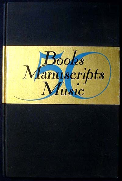 50 Books Manuscripts Music Catalogue Number 111