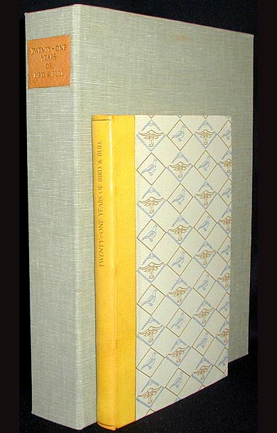 Twenty-One Years of Bird & Bull: A Bibliography, 1958-1979 [with clamshell case]. W. Thomas Taylor, Henry Morris.