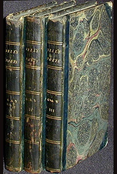 The Poetical Works of John Gay: Including His Fables in Three Volumes With the Life of the Author [3 vols with armorial bookplate of Charles Grantham Esq.]. John Gay.