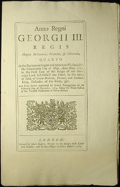 An Act for Granting, for a Limited Time, a Liberty to Carry Rice from His Majesty's Provinces of South Carolina and Georgia, directly to any Part of America to the southward of the said Provinces