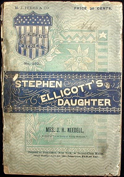 Stephen Ellicott's Daughter. Mary Anne Needell Needell.