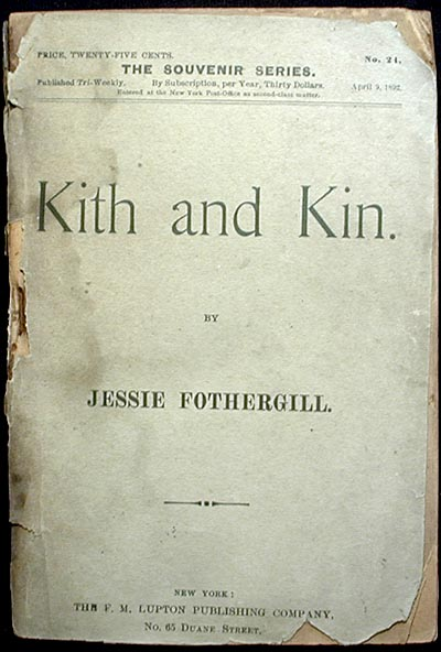 Kith and Kin. Jessie Fothergill.