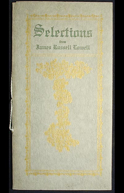 Selections from James Russell Lowell. James Russell Lowell.