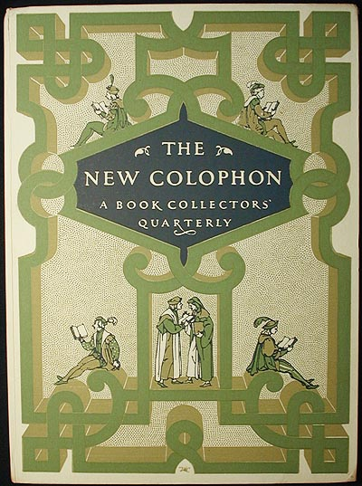 The New Colophon: A Book Collectors' Quarterly vol. 2 Part 6 June 1949. Frederick B. Adams, Jr., Christopher Morley, Deoch Fulto, Simon Nowell-Smith.