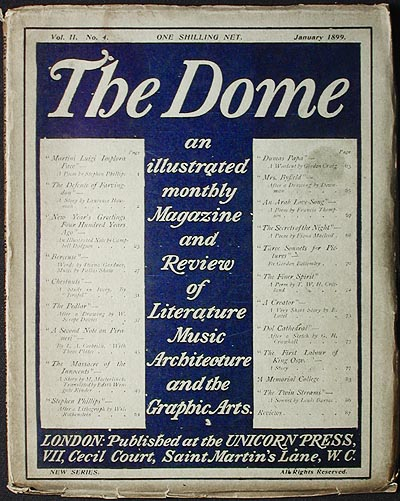 The Dome: An Illustrated Monthly Magazine and Review of Literature, Music, Architecture, and the Graphic Arts; Vol. II no. 4 Jan. 1899 [New Series]. Laurence Housman, Gertrude Reese Hudson.