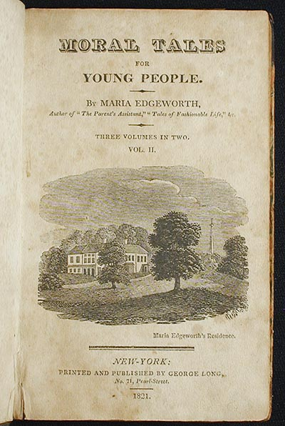 Moral Tales for Young People [vol. 2]. Maria Edgeworth.