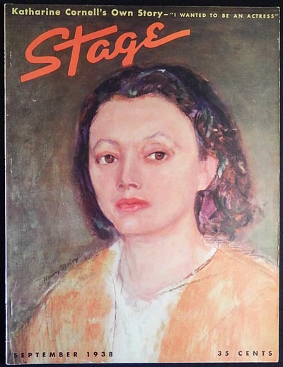 Stage: The Magazine of After-Dark Entertainment -- September 1938 vol. 15 no. 12 [Katharine Cornell -- Maggie Cline]. Irene Franklin, Ruth Woodbury Sedgwick.