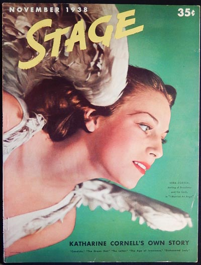 Stage: The Magazine of After-Dark Entertainment -- November 1938 vol. 16 no. 2 [Billy Rose -- Clare Boothe -- Benny Goodman -- Katharine Cornell]. Clare Boothe, Benny Goodman, Ruth Woodbury Sedgwick.