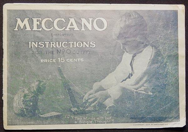 Meccano Instructions for the No. 0 Outfit [Catalog]