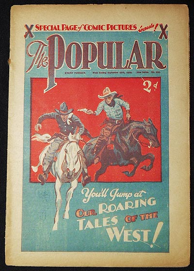The Popular Sept. 20, 1928 -- New Series no. 505. Charles Hamilton.