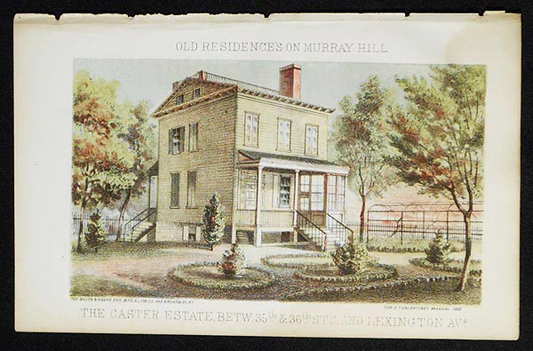 The Caster Estate Betw. 35th & 36th St's and Lexington Avs. [chromolithograph from Valentine's Manual of the Corporation of the City of New York]