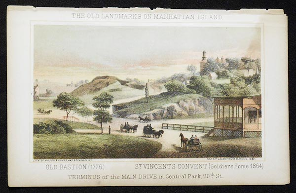 Terminus of the Main Drive in Central Park, 110th St. [chromolithograph from Valentine's Manual of the Corporation of the City of New York]