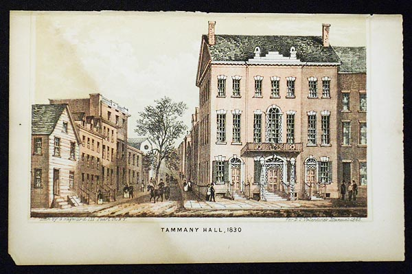 Tamanay Hall, 1830 [chromolithograph from Valentine's Manual of the Corporation of the City of New York]