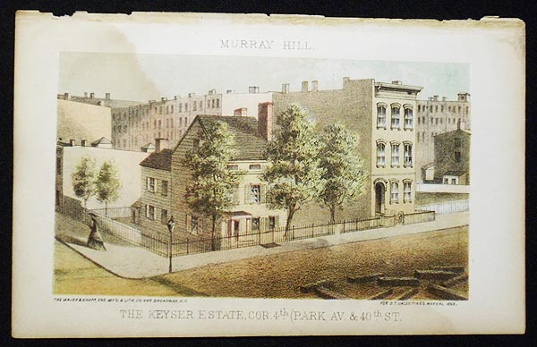 The Keyser Estate, cor. 4th (Park Av. & 40th St.) [chromolithograph from Valentine's Manual of the Corporation of the City of New York]