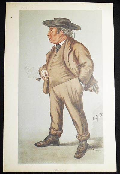 """A Rustic Judge"": Lord Justice Williams (Judges, no. 54) -- Vanity Fair, March 2, 1899. Charles Garden Assheton-Smith."