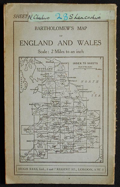 "Bartholomew's ""Half-Inch to Mile"" Map of England & Wales: Sheet 8 Merseyside [Liverpool to Manchester]"