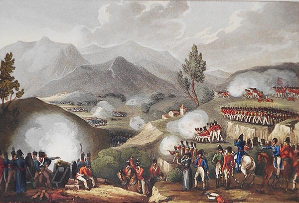 Battle of Salamonda, May 16th, 1809; W. Heath delt.; T. Sutherland sculpt. William Heath, Thomas Sutherland.