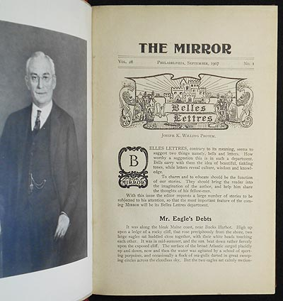 The Mirror vol. 28 nos. 1-10 Sept. 1907-June 1908 [Central High School, Philadelphia]