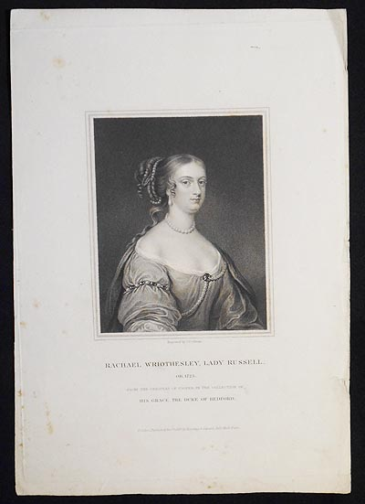 Rachael Wriothesley, Lady Russell ob. 1723; From the Original of Cooper in the Collection of His Grace the Duke of Bedford. John Cochran.