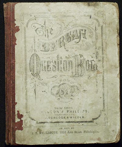 The Berean Question Book, (International Series,) For 1879: Studies in the Old Testament