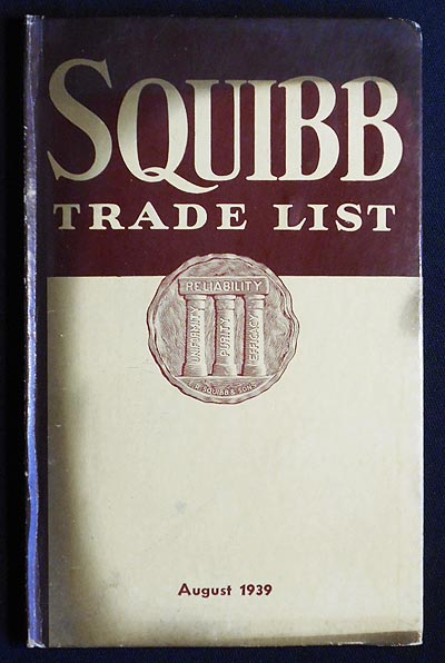 Squibb Trade List: August, 1939