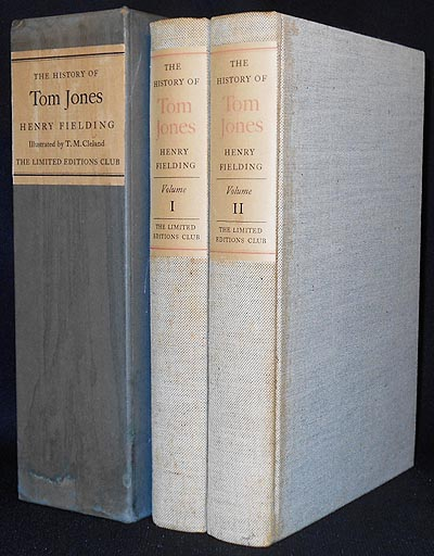The History of Tom Jones: A Foundling by Henry Fielding; With Illustrations by T. M. Cleland and an Introduction by Louis Kronenberger [2 volumes]. Henry Fielding.