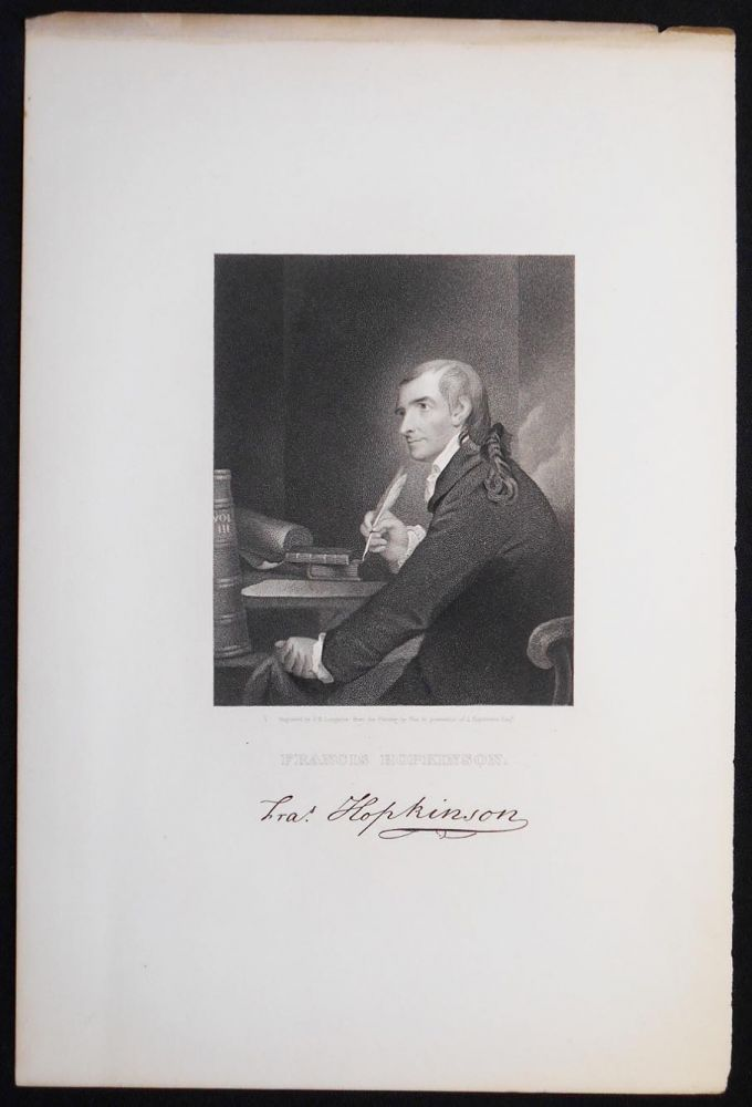 Francis Hopkinson; Engraved by J. B. Longacre from the Painting by Pine in possession of J. Hopkinson Esqr. [engraved print]. J. B. Longacre, James Barton.
