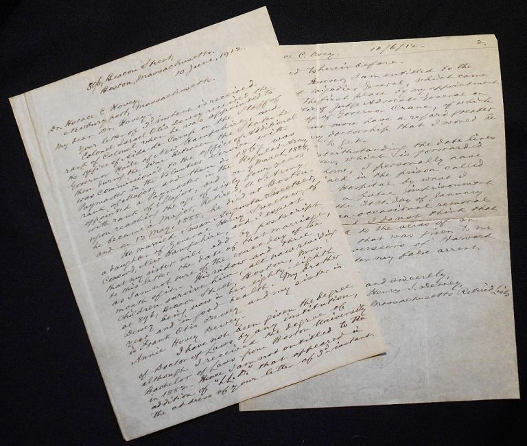 Autograph letter signed to Horace C. Hovey. Henry Sweetser Dewey.