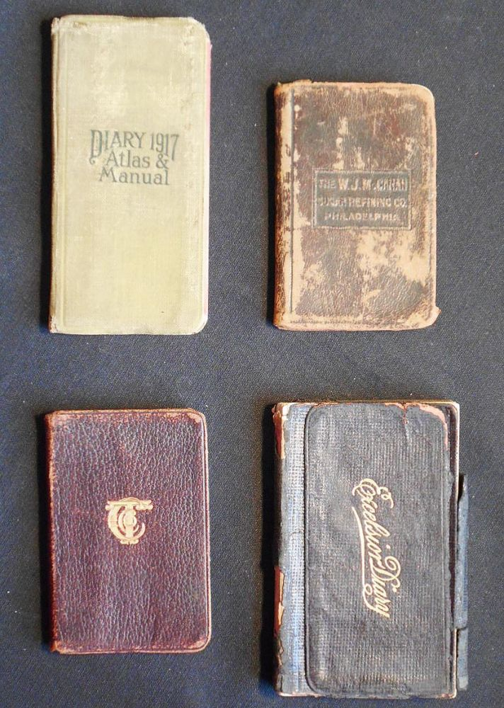 John W. Hemig Diaries -- 4 advertising notebooks and diaries used by Philadelphia waiter 1916-1920. John W. Hemig.