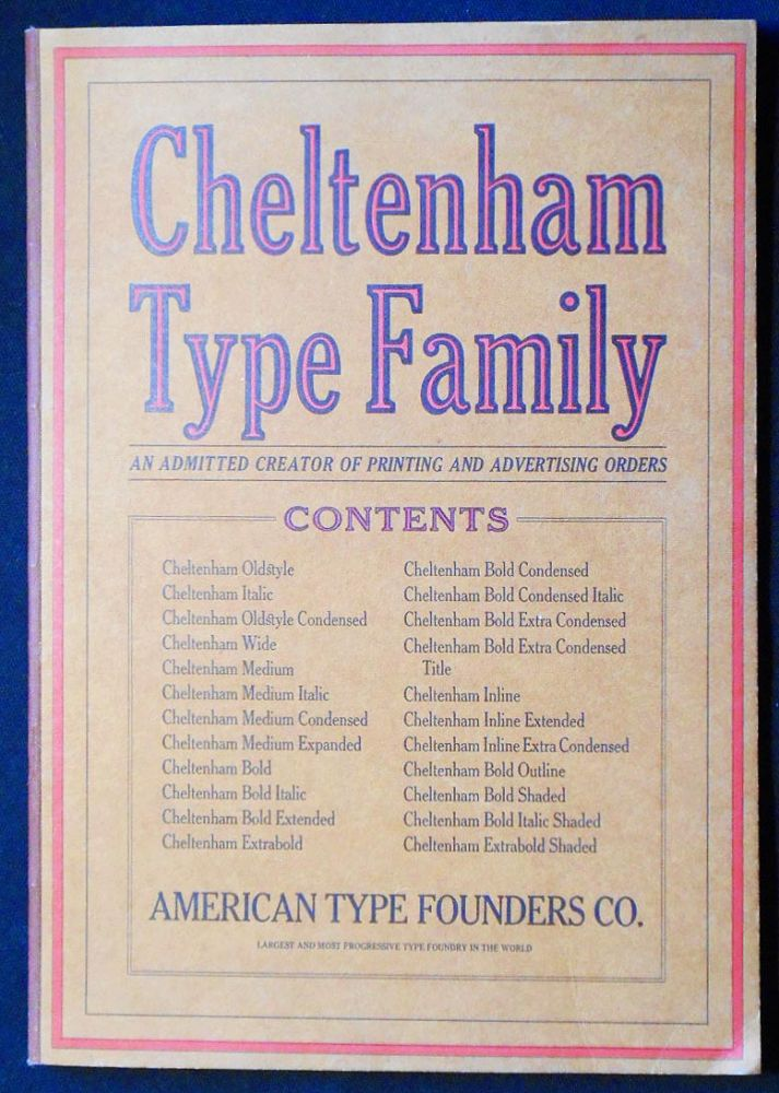 Complete Showing of the Famous Cheltenham Family