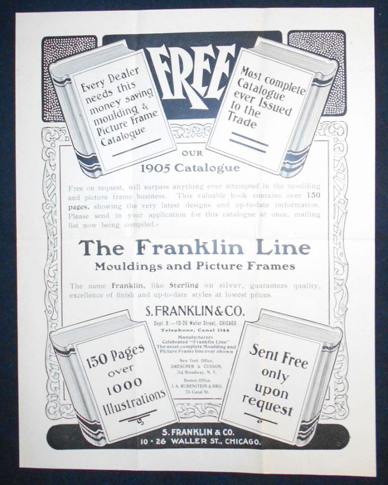 The Franklin Line Mouldings and Picture Frames [advertising flyer]