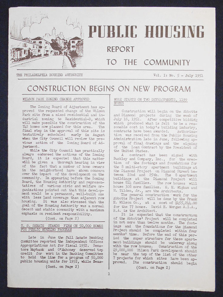 Public Housing Report to the Community July 1951, vol. 1 no. 5