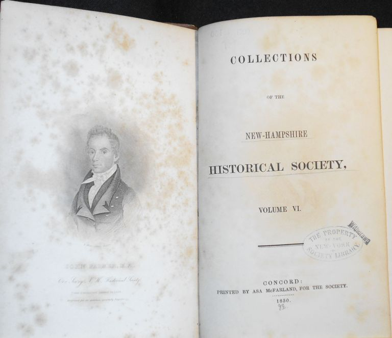 Collections of the New-Hampshire Historical Society, Volume VI