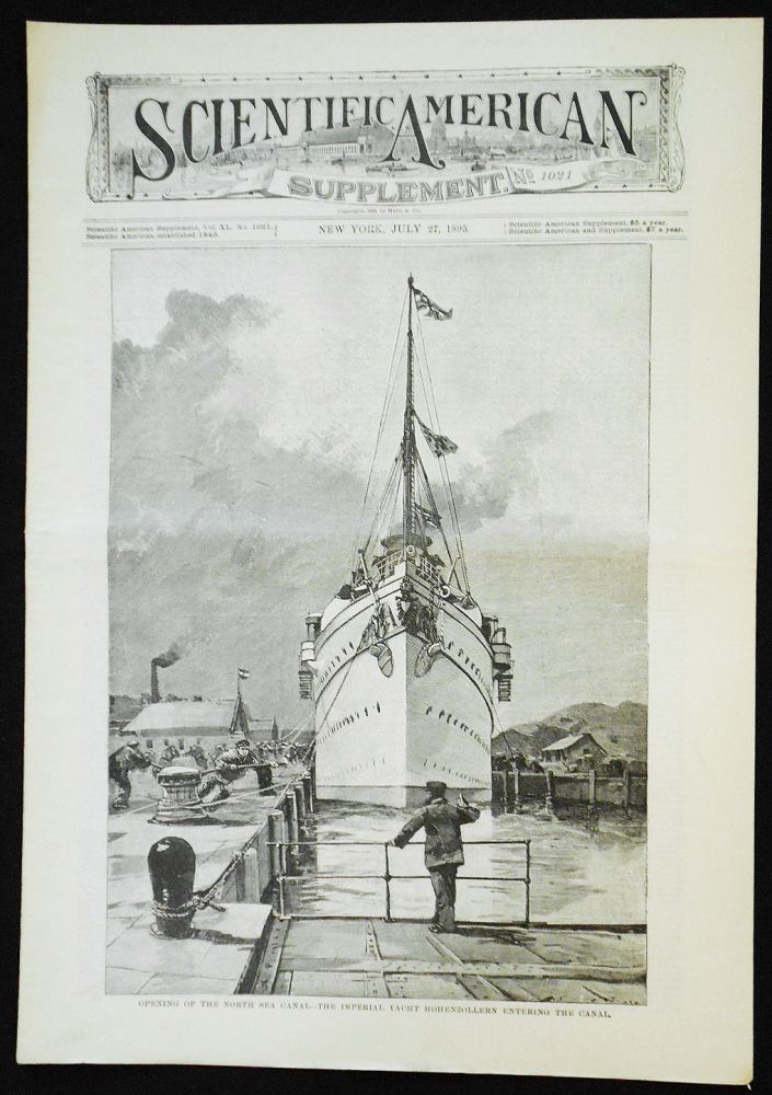 Scientific American Supplement -- No. 1021, July 27, 1895 [the North Sea and Baltic canal]