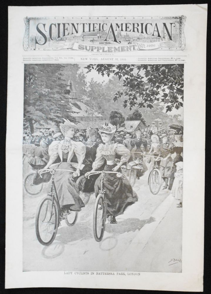 Scientific American Supplement -- No. 1026, Aug. 31, 1895 [lady cyclists in Battersea Park, London]