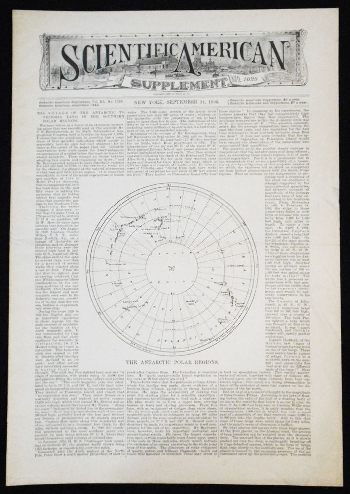 Scientific American Supplement -- No. 1029, Sept. 21, 1895 [the Waterloo and City electrical underground railway, London]