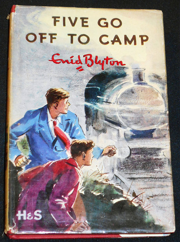 Five Go Off to Camp: The Seventh Story of the Adventures of the Four Children and their Dog; ; Illustrated by Eileen Soper. Enid Blyton.