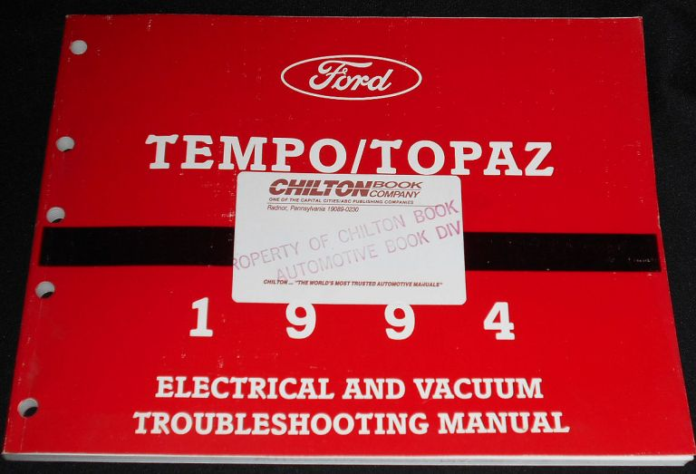 1994 Tempo/Topaz: Electrical and Vacuum Troubleshooting Manual FPS-12124-94 Service Manual