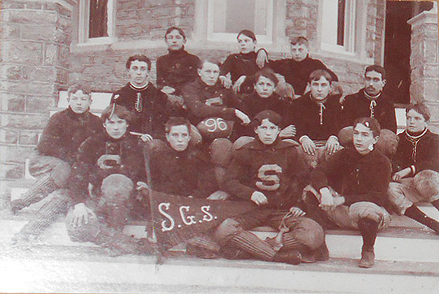 Photograph of 1896 Football Team [possibly St. George's School, Middletown, R.I.]