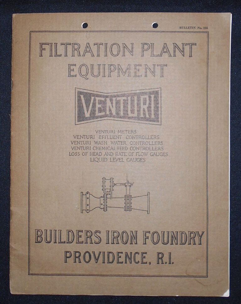 Filtration Plant Equipment: Venturi