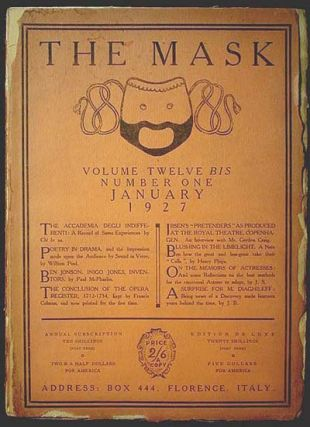 The Mask Volume Twelve bis Number One January 1927