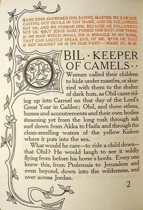 Obil Keeper of Camels: Being the Parable of the Man Whom the Disciples Saw Casting Out Devils
