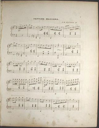 Fantine Mazurka: Composed & Arranged for the Piano Forte