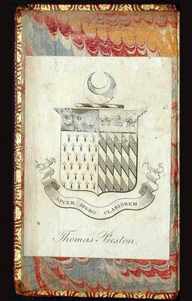 Des. Erasmi Roterod. Colloquia: nunc Emendatiora [with armorial bookplate of Thomas Preston]