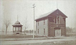 Silsby Steamer Lucius Beebe No. 1 [photograph of firehouse in Wakefield, Mass.]