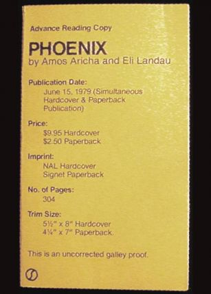Phoenix [Uncorrected Galley Proof ]. Amos Aricha, and Eli Landau