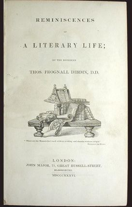 Reminiscences of a Literary Life [provenance: William Horatio Crawford]