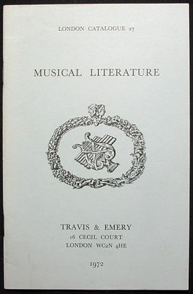 Musical Literature: London Catalogue 27