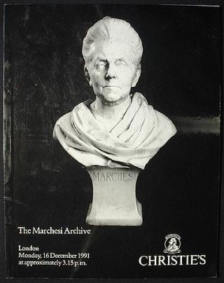 The Marchesi Archive: to be offered . . . on Monday 16 December 1991 [auction catalog]